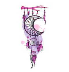 Hand drawn dream catcher and vector