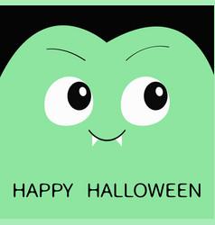 Happy halloween count dracula square head cute vector