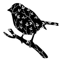 High quallity original silhouette of a bird with vector image