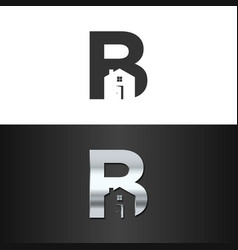 letter b real estate logo concept vector image