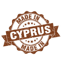 Made in cyprus round seal vector
