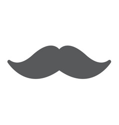 mustache glyph icon barber and hairstyle vector image