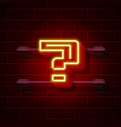 Neon question symbol city signboard vector