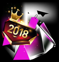 New year 2018 poster and calendar cover year vector