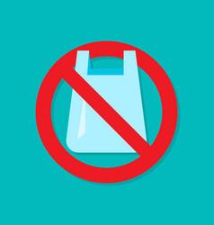 No plastic bag flat icon vector