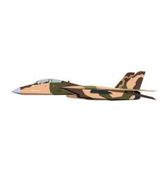 Nursery military airplane drawing army plane vector