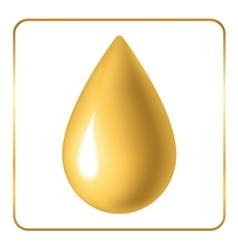 Oil drop icon golden vector image