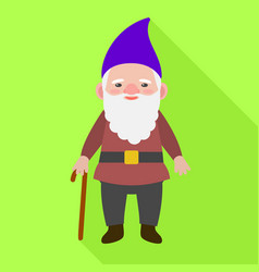 old gnome icon flat style vector image