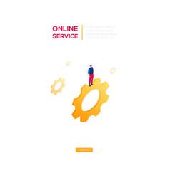 online service - modern isometric web vector image