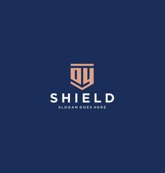 oy dy shield logo vector image