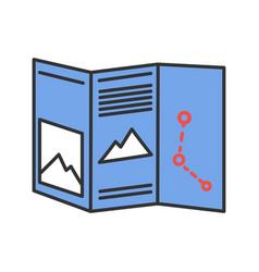 Paper map color icon vector