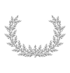Realistic Silver Laurel Wreath vector image