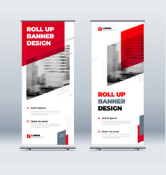 redbusiness roll up banner abstract roll up vector image