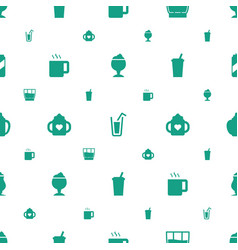 refreshment icons pattern seamless white vector image