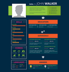 Resume page design vector