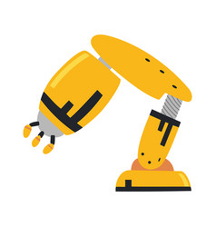 robotic arm hand robot icons set vector image