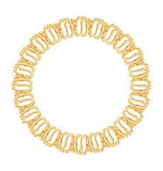 round frame on a white background - gold chain vector image