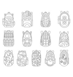 school backpacks set education and study back to vector image