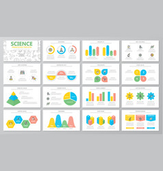 science and research presentation templates vector image