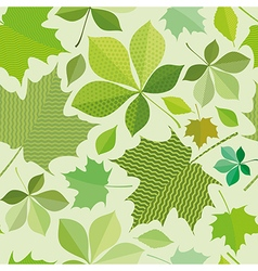 Seamless green foliage vector