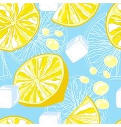 Seamless texture lemonade vector