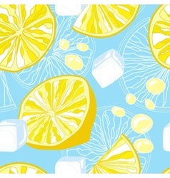 Seamless texture of lemonade vector image