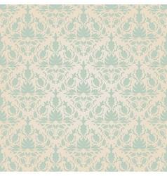 Seamless vintage wallpaper pattern vector image