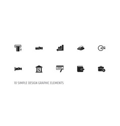 set of 10 editable investment icons includes vector image