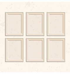 Set of brown frames vector image