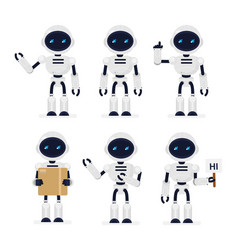 set of cute robots in vector image