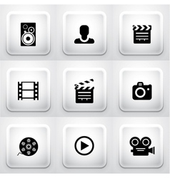 Set of square application buttons navigation vector image