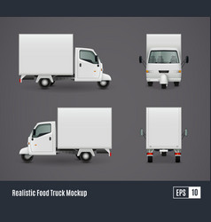 Small food truck template vector