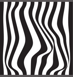 striped abstract background black and white zebra vector image