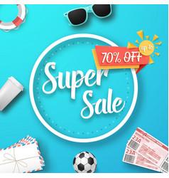 Super sale poster vector