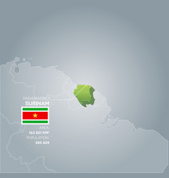 surinam information map vector image