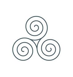 thin line triskelion symbol icon vector image