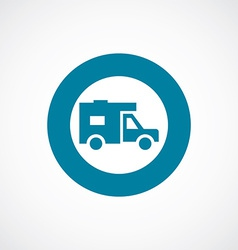 Trailer icon bold blue circle border vector