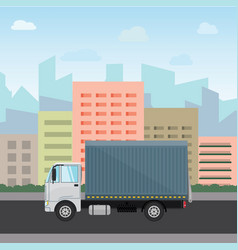 Truck delivery isolated on vector