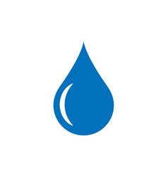 Water drop icon in flat style raindrop on white vector