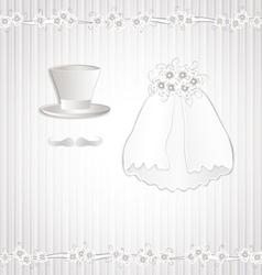 Wedding vintage vector
