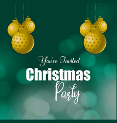 you are invited christmas party background vector image
