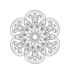 Zentangle stylized Arabic Indian Mandala Hand vector image