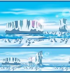 Arctic ice vector image vector image