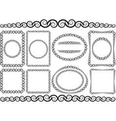borders vector image vector image