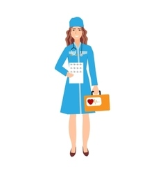 Family doctor character isolated vector