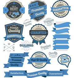 Set of vintage badges and design elements vector image vector image
