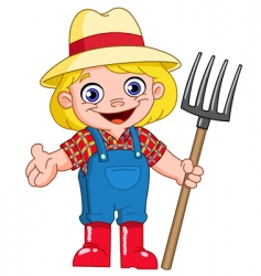 young farmer vector image