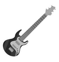 Electric guitar icon gray monochrome style vector