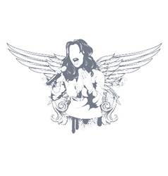 girl with wings vector image vector image