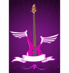 Modern bass guitar vector